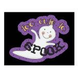 Too Cute To Spook Halloween Ghost Postcard