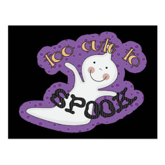 Too Cute To Spook Halloween Ghost Postcard