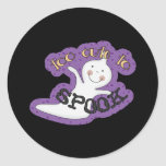 Too Cute To Spook Halloween Ghost Classic Round Sticker