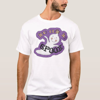 Too Cute To Spook Halloween Ghost T-Shirt