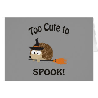 Too Cute To Spook! Hedgehog Witch Card