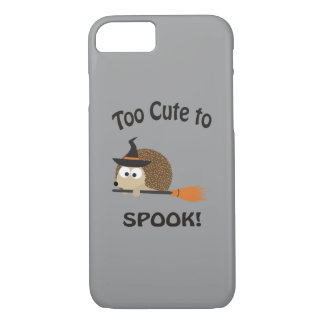 Too Cute To Spook! Hedgehog Witch iPhone 8/7 Case