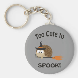 Too Cute To Spook! Hedgehog Witch Keychains
