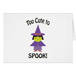 Too Cute to Spook! Little Witch Card
