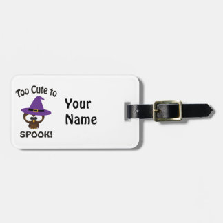 Too Cute to Spook! Owl Luggage Tag