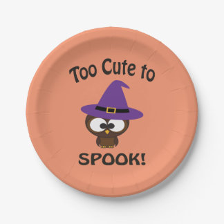 Too Cute to Spook! Owl Paper Plate
