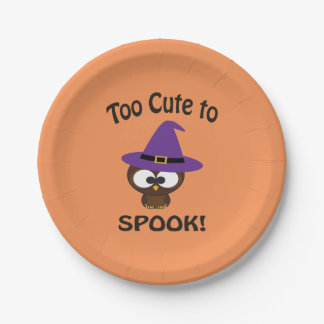 Too Cute to Spook Owl Paper Plate