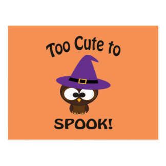 Too Cute to Spook Owl Postcard