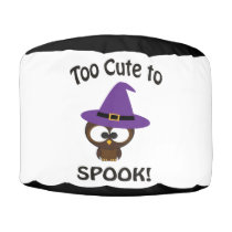 Too Cute to Spook! Owl Pouf
