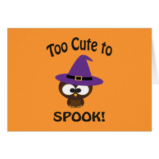 Too Cute to Spook! Owl Witch Card