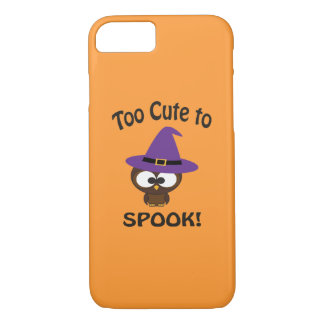 Too Cute to Spook! Owl Witch iPhone 8/7 Case