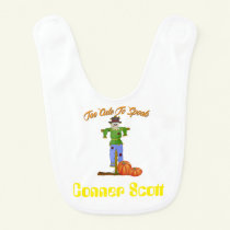 Too Cute To Spook Personalized Baby Bib