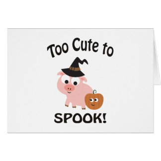 Too Cute to Spook! Pig Witch Card
