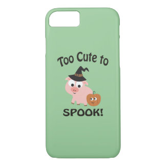 Too Cute to Spook! Pig Witch iPhone 8/7 Case