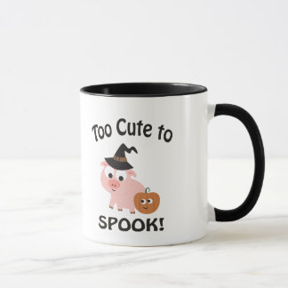 Too Cute to Spook! Pig Witch Mug