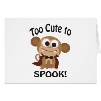 Too Cute To Spook! Vampire Monkey Card