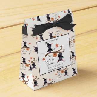 Too Cute to Spook Watercolor Bats Child's Birthday Favor Box