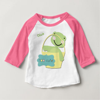 Too Cute Turtle Personalized Baby T-Shirt