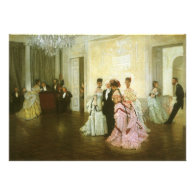 Too Early by James Tissot, Vintage Victorian Art Personalized Announcements