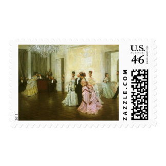 Too Early by James Tissot Vintage Victorian Art Postage Stamps