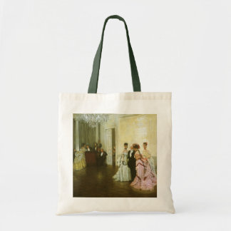 Too Early by James Tissot, Vintage Victorian Art Tote Bag