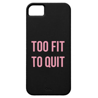 Too Fit Fitness Funny Quotes Black Pink iPhone SE/5/5s Case