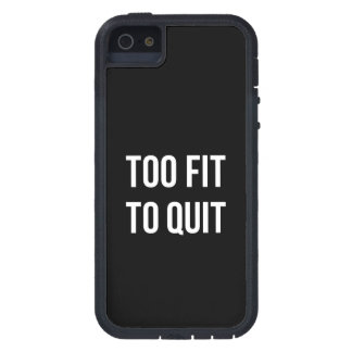 Too Fit Gym Funny Quotes Black White iPhone 5 Cases