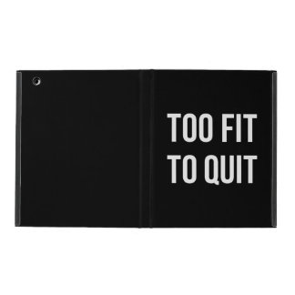 Too Fit Gym Funny Quotes Black White iPad Case