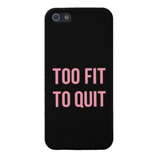 Too Fit Workout Funny Quotes Black Pink Gym iPhone SE/5/5s Cover