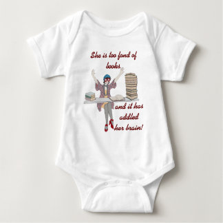 Too Fond Of Books Baby Bodysuit