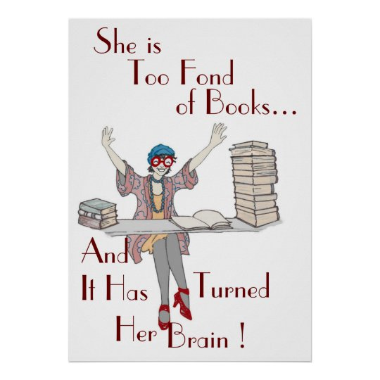 Too Fond of Books! Poster