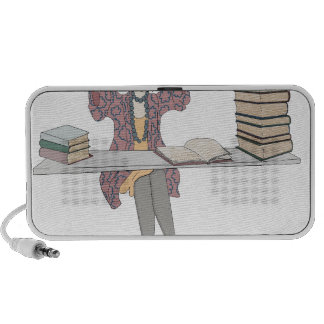 Too Fond Of Books Portable Speakers