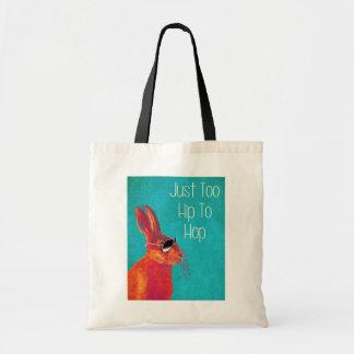 Too Hip To Hop Blue Tote Bag