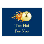 Too Hot Flaming Pinball Business Card Template