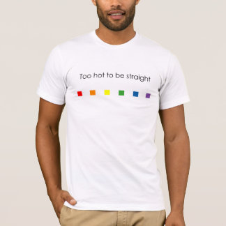 Too Hot Rainbow - Light Apparel T-Shirt