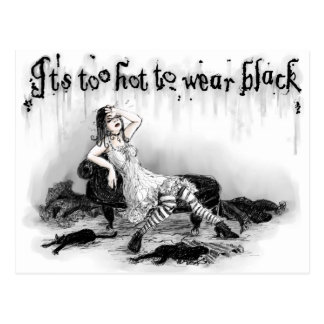 Too Hot to Wear Black Postcard