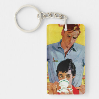 Too Late To Make Up Double-Sided Rectangular Acrylic Keychain