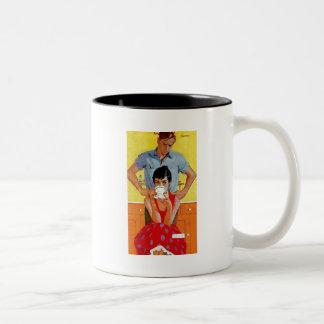 Too Late To Make Up Two-Tone Coffee Mug