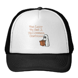 Too Lazy To Get To Holloween Costume Trucker Hat