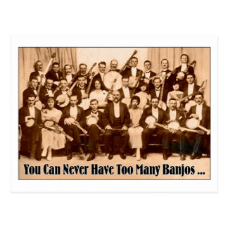 Too Many Banjos Postcard