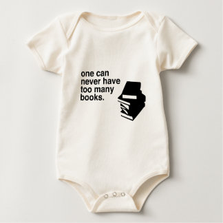 too many books baby bodysuit