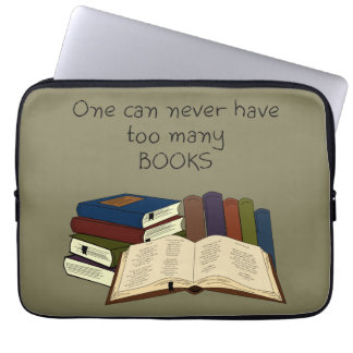 Too Many Books?! - Change Color Laptop Sleeve