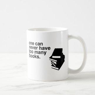 too many books coffee mug