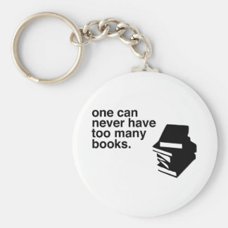 too many books keychain