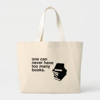 too many books large tote bag