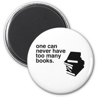 too many books magnet