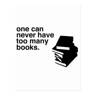 too many books postcard