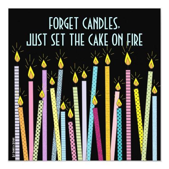 Too Many Candles!  Birthday Party Invitation