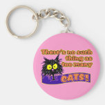 TOO MANY CATS BASIC ROUND BUTTON KEYCHAIN