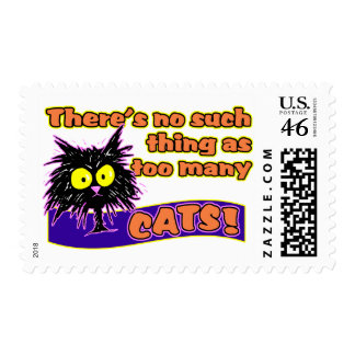 TOO MANY CATS POSTAGE STAMPS